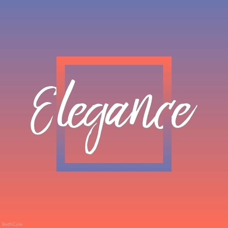 'Elegance' 1/4 Feelings Series - bethcolecreative | ello
