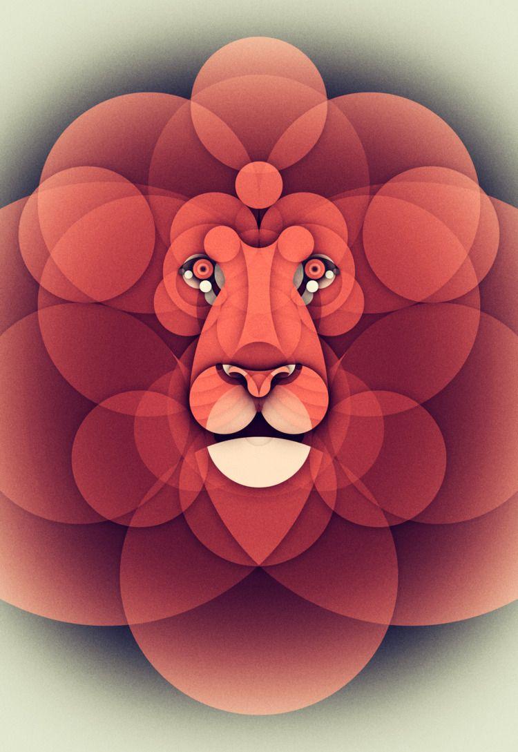 LION - Animal series - animalsjustwithcircles - brunobua | ello