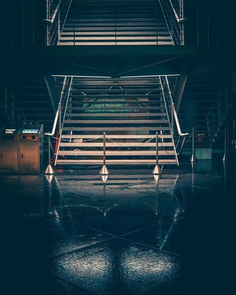 Imposing stairs rainy night...  - fokality | ello