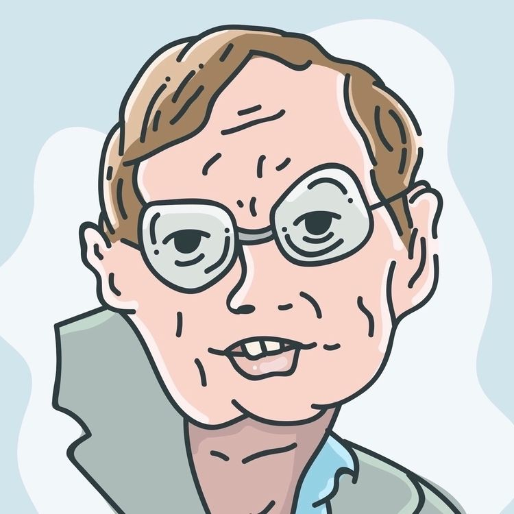 StephenHawking, Illustration - shapes | ello