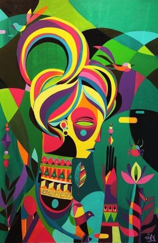 Flor de Maria acrylic canvas 20 - jotapepax | ello