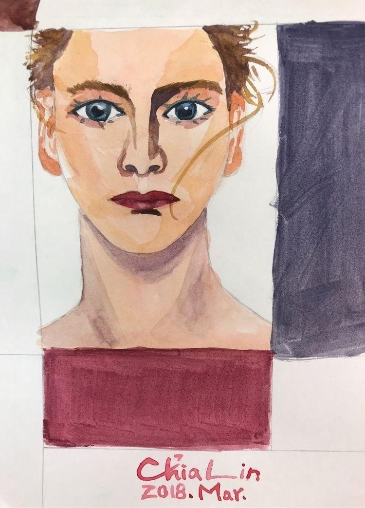 Protrait. realistic - portrait, female - yangchialin | ello