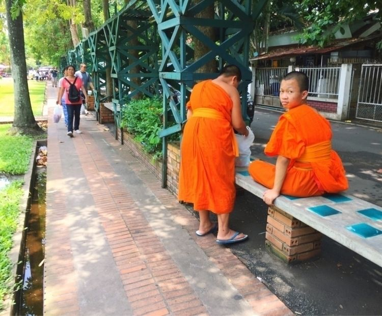 Buddhist Monks, Chiang Mai, Tha - _amyamit | ello