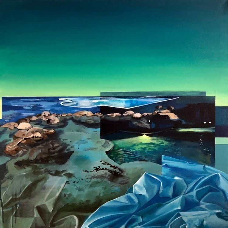 Pool Janelle Anderson, acrylic  - helikongallery | ello