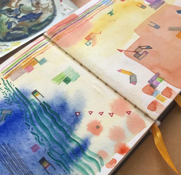 Sketchbook details  - modernart - crystalfischetti | ello