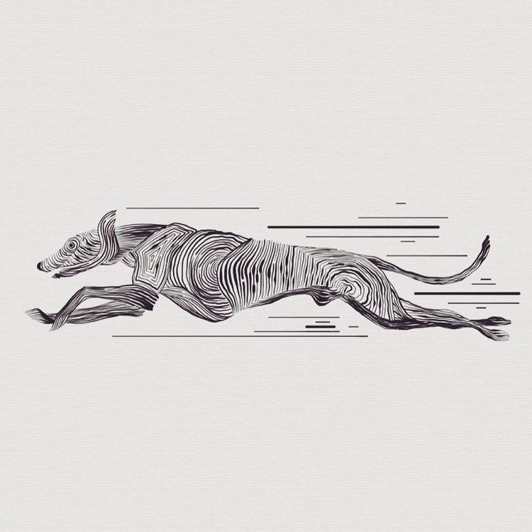 Windhund auf der Flucht (vor Kä - heiniistgegenalles   ello
