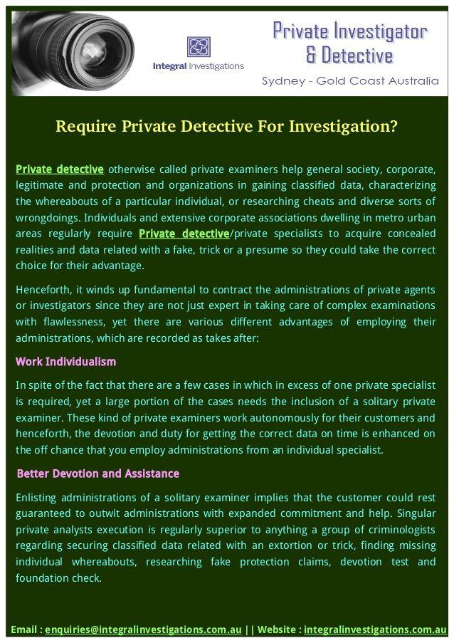 Hire - PrivateDetective - integralinvestigations | ello