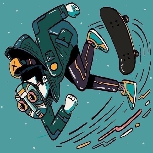 Skate life ll.  - whackoink, illustration - whackoink   ello