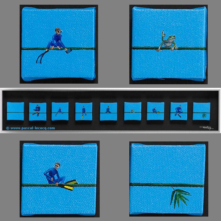 CROAK - oil canvas Pascal Lecoc - bluepainter | ello