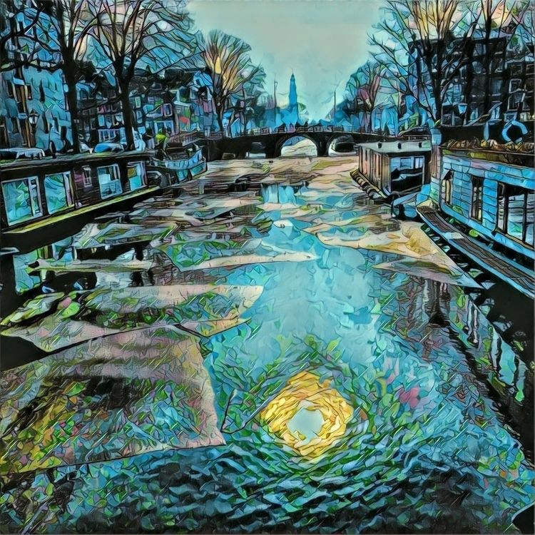 Iced canals Amsterdam - dleftin   ello