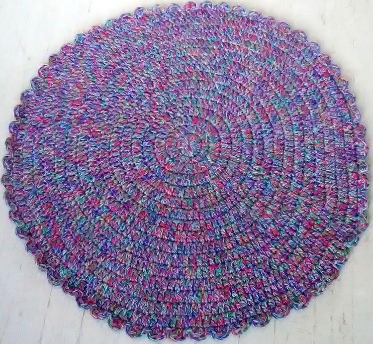Handmade Crochet Rug Table Topp - maryherrigfiberarts | ello