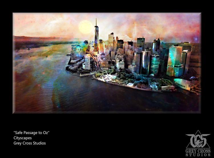 work Cityscapes series - surrealism - greycrossstudios | ello