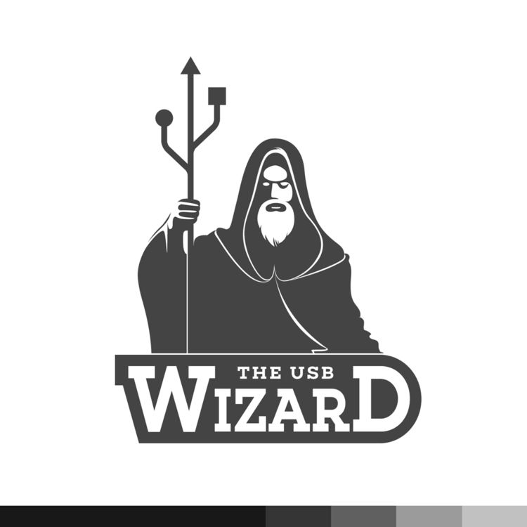 USB Wizard - logo, illustration - ploggeddotcom | ello