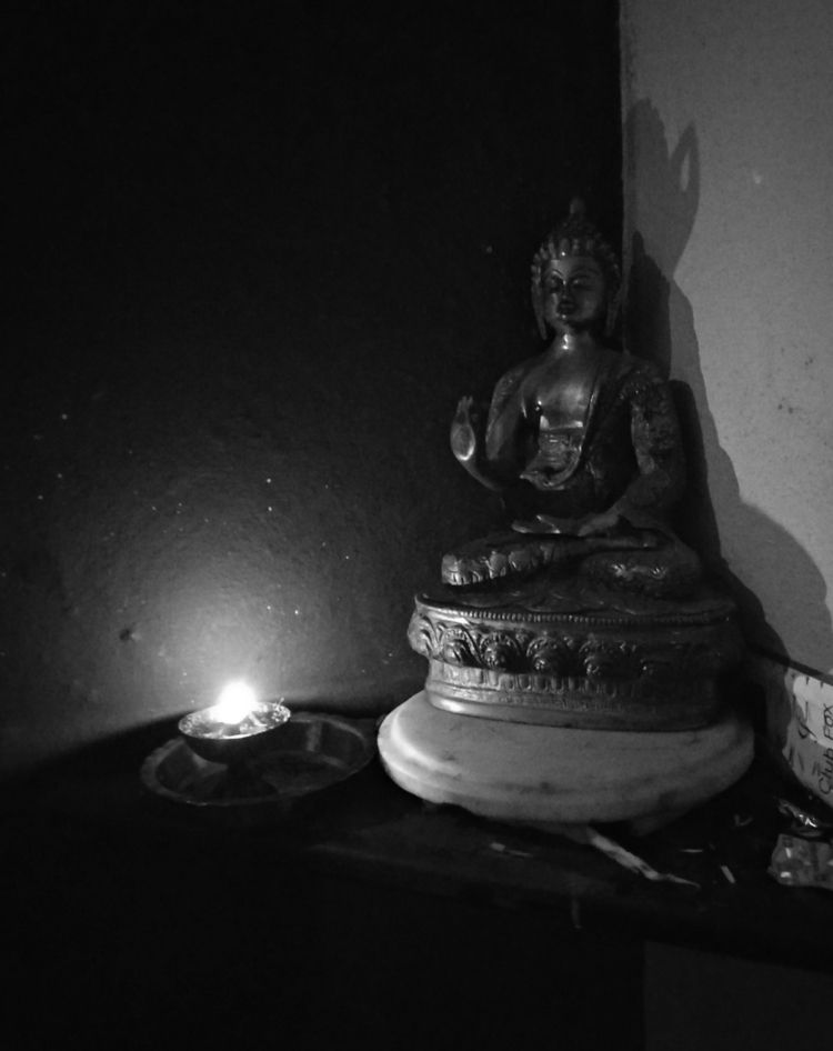 India, Light, Buddha, Lord, Black_and_White - atulbw | ello