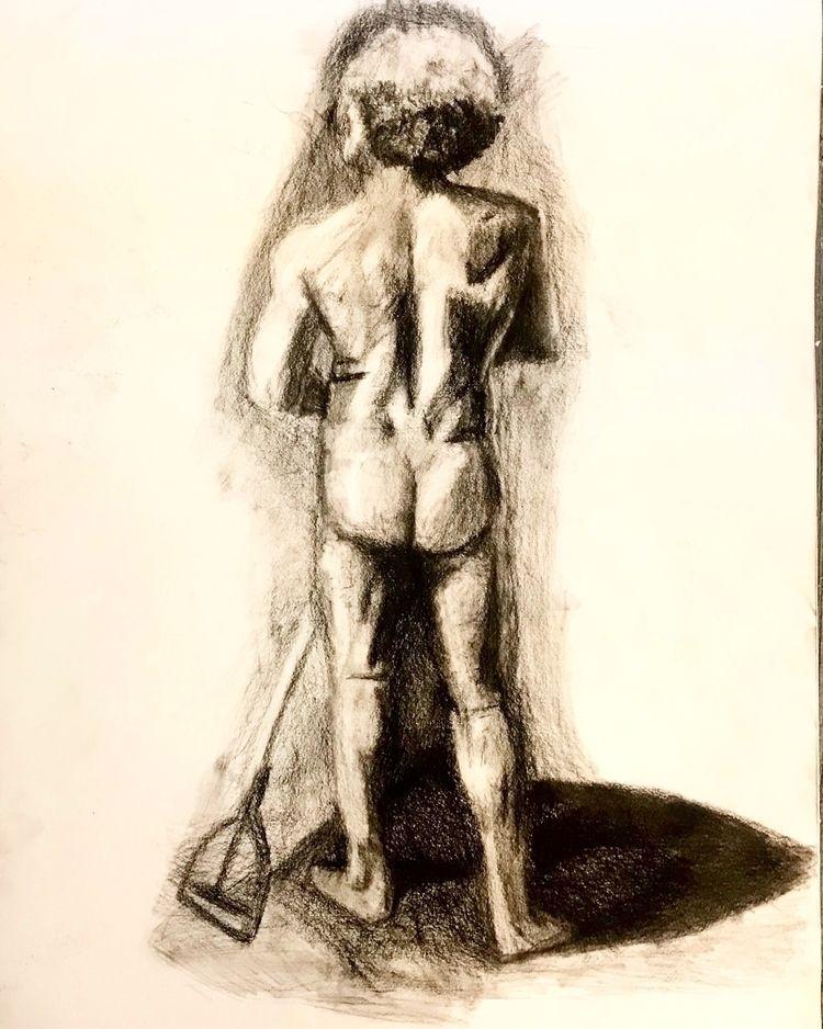 life. paper - charcoal, sketch - albae | ello
