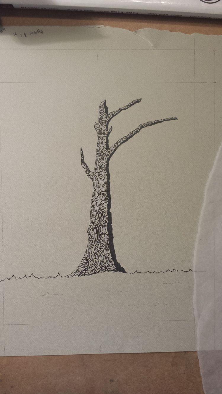 Pen Strathmore pastel paper - treedrawing - rolandodiazartist | ello