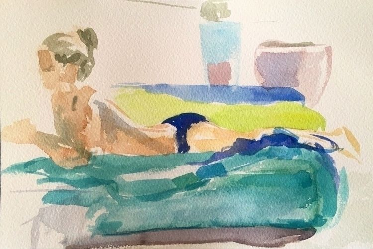 watercolour, france, paint, sketch - yuliavirko | ello