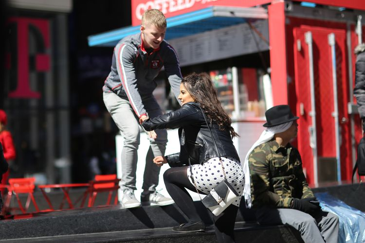 Hand guy helping woman wall Tim - kevinrubin | ello