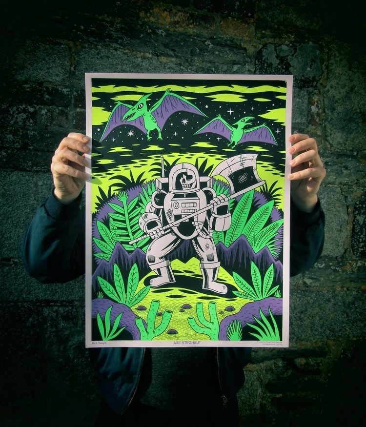 black light Axe-stronaut screen - jackteagle | ello