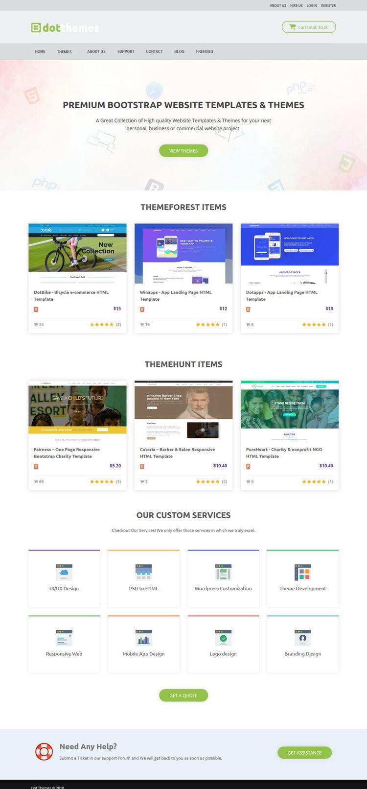 PREMIUM BOOTSTRAP WEBSITE TEMPL - designworld | ello