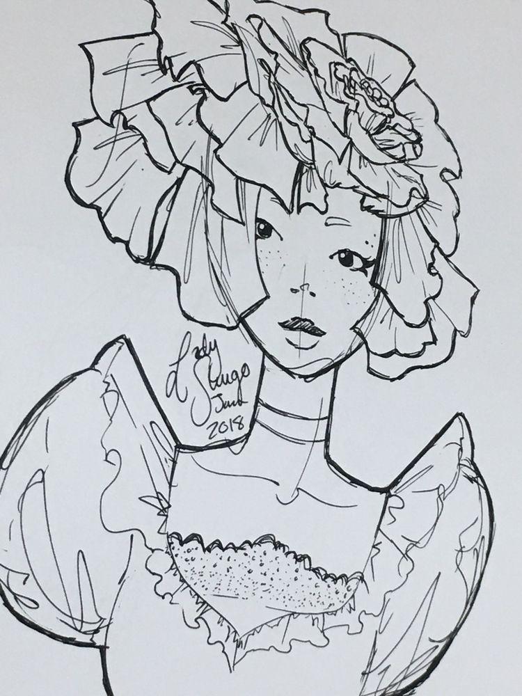 sketch early year black ink pen - ladyshugo | ello