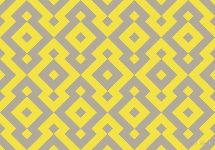 Geometric Pattern: Diamond: Yel - red_wolf | ello