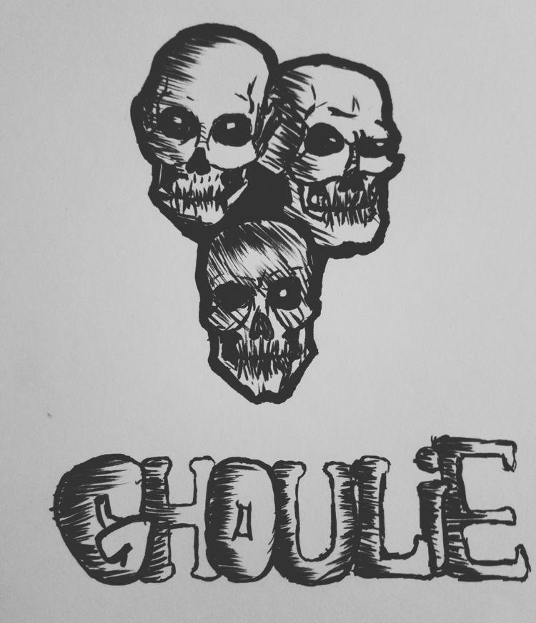 GHOULIE pop art enjoyed making - deadenglish   ello