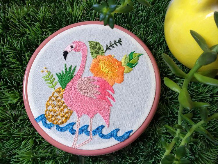 Pink flamingo. Carol Grilo - fofysfactory   ello