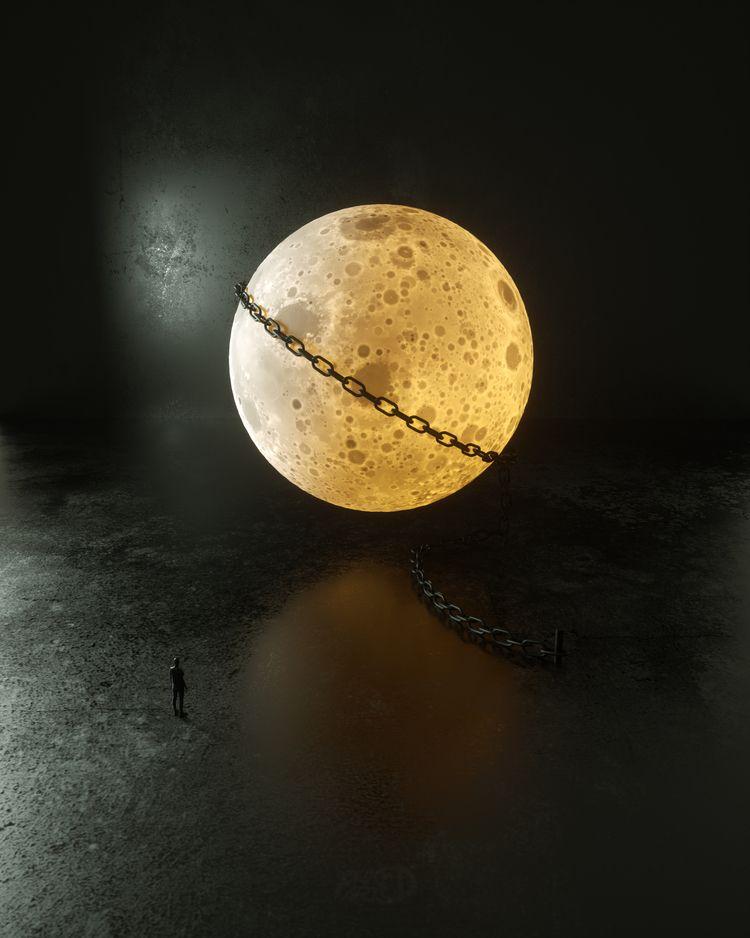 Moonshiner - octane, moon, 3d, graphic - pnkfdarts   ello