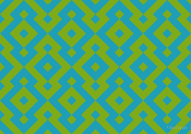 Geometric Pattern: Diamond: Gre - red_wolf | ello