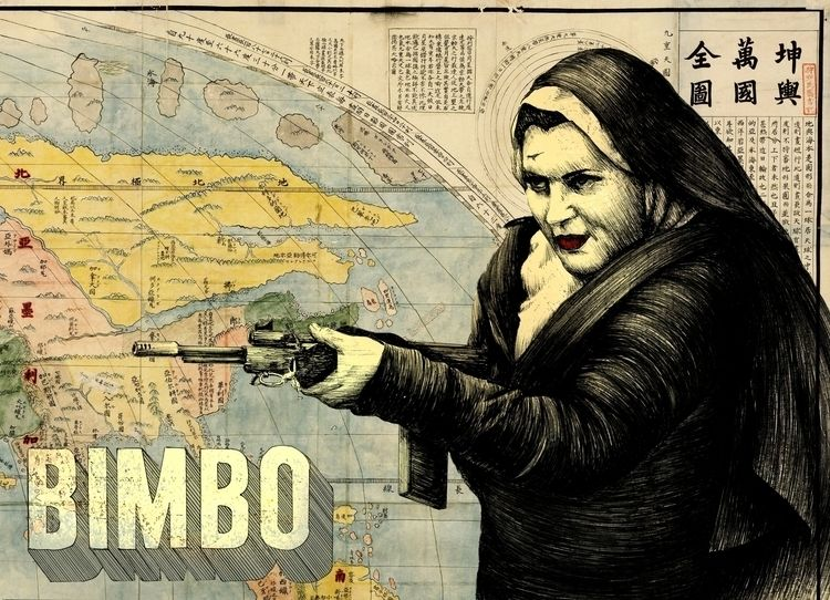 Bimbo 2 - 2018. Tinta collage d - fronkie | ello