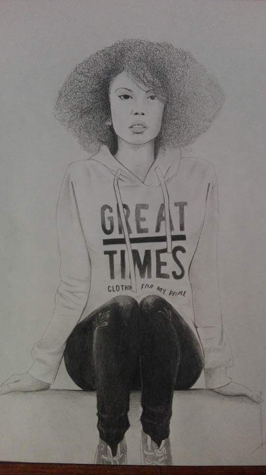 Afro woman 2017 - draw, traditionalart - andres_26 | ello