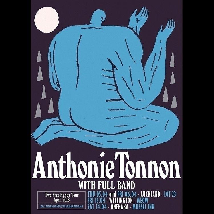 Poster Anthonie Zealand tour. t - danielblackball   ello