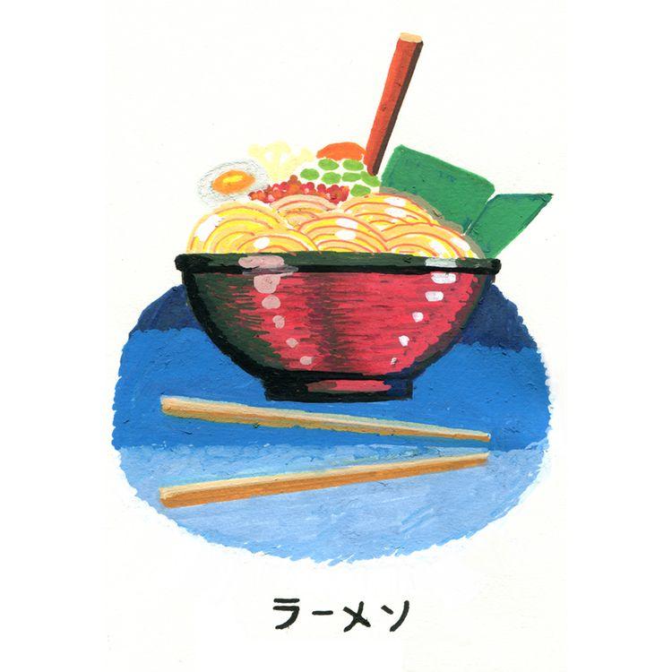 Ramen. Japan sketchbook. Acryli - juanjogasp | ello