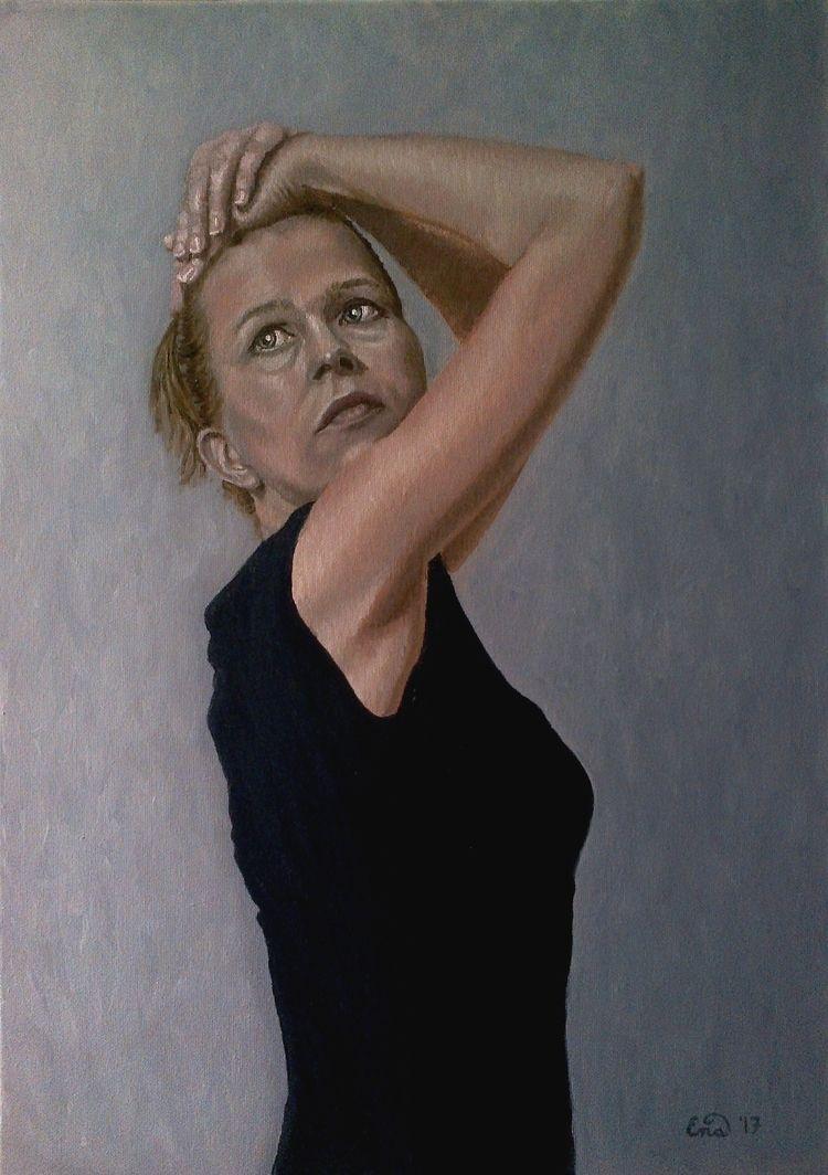 MODESTY selfportrait artwork. O - enavarsavikova | ello