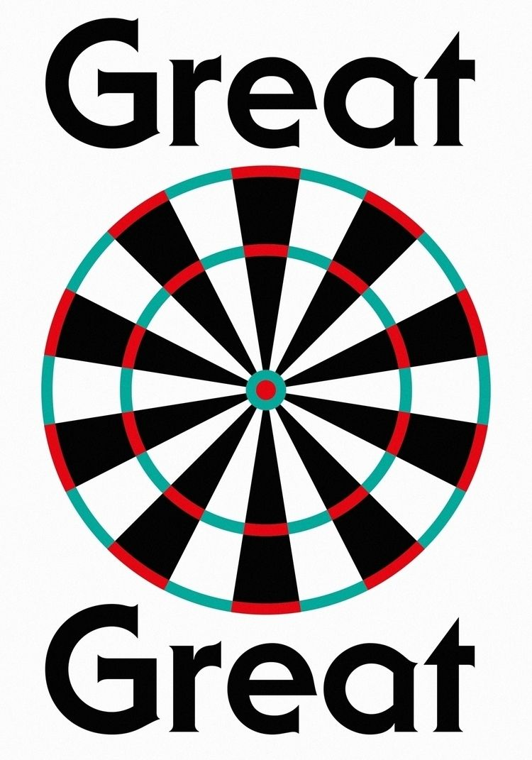 Playing darts great - design, graphicdesign - miguelalmeida | ello