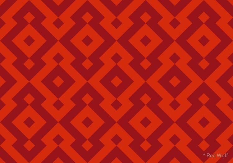 Geometric Pattern: Diamond: Red - red_wolf | ello