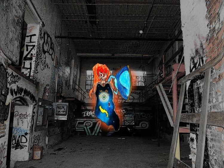 Winged Angel Space effect - garage - mangekkojones | ello