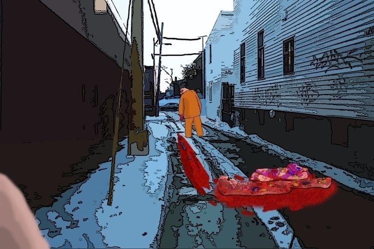 Alley Metro - murder, killer, blood - mangekkojones | ello