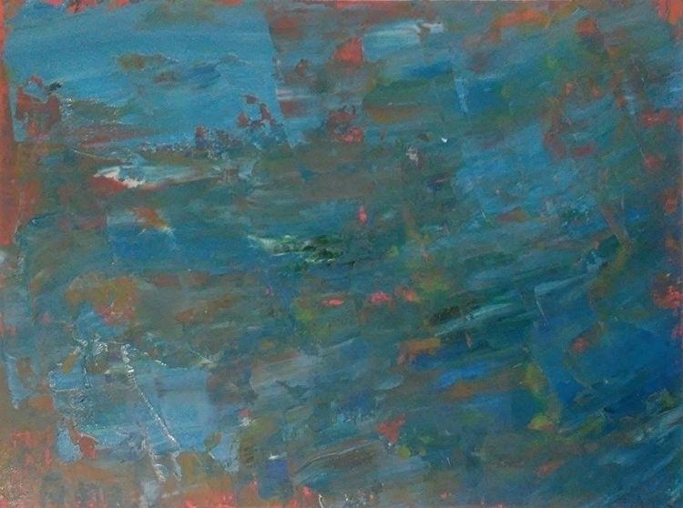 Night Storm Pink 9x12 Oil Paper - robinccpoole | ello
