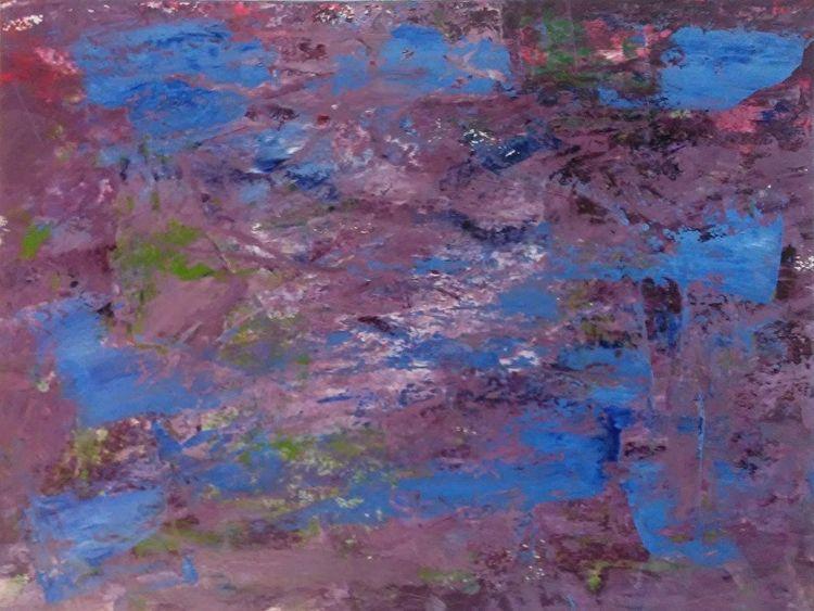 Sky Night Purple 9x12 Oil Paper - robinccpoole | ello