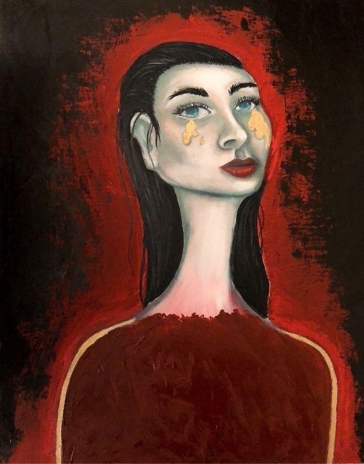 """Release"" Oil wood 11""x14 - popsurrealism - annaisabellaart | ello"