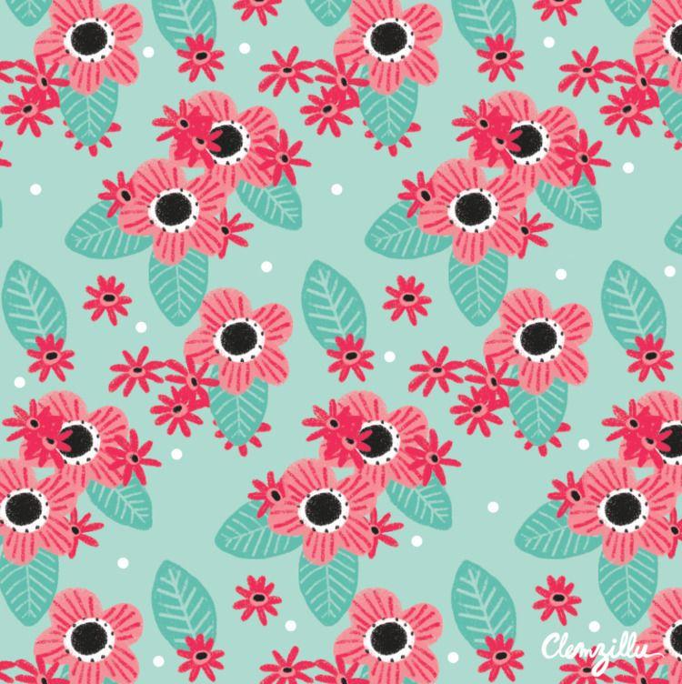 pattern, floralpattern, patternoftheday - clemzillu | ello