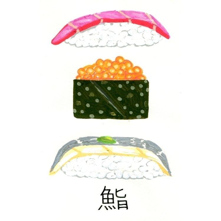 Sushi. Japan sketchbook. Acryli - juanjogasp | ello