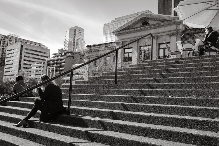 Lunch steps - aovbnw, blackandwhite - kch | ello
