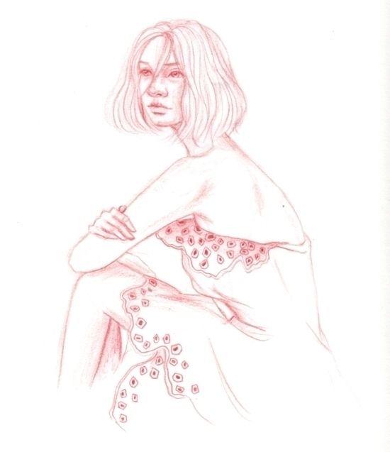 Feeling pink - doodle, drawing, sketch - j0eyg1rl | ello