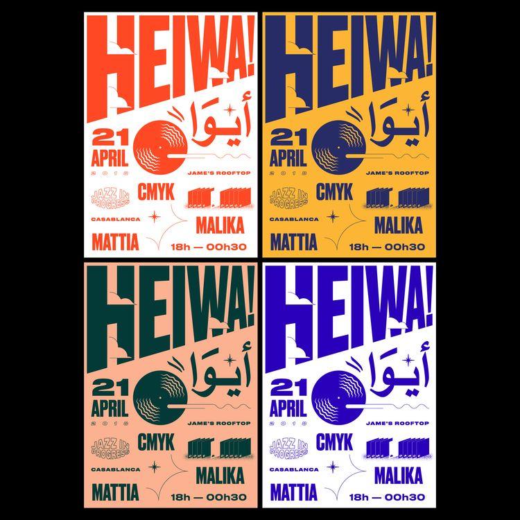 Heiwa, Casablanca, Poster, GraphicDesign - saeed | ello