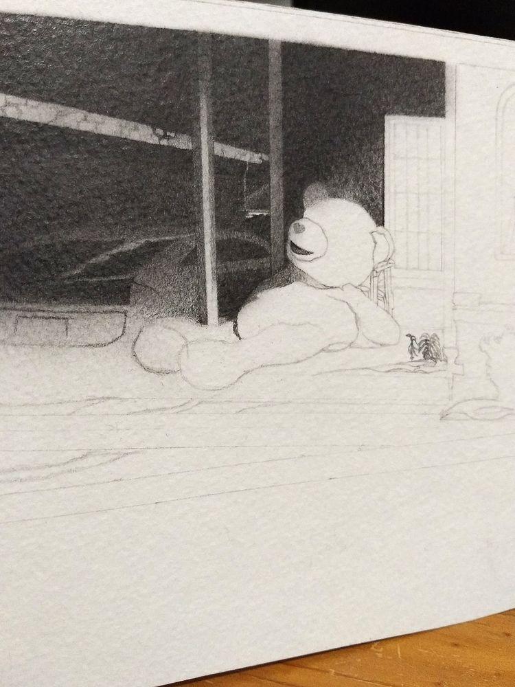 teddy drawing making today  - workInProgress - enelojial | ello