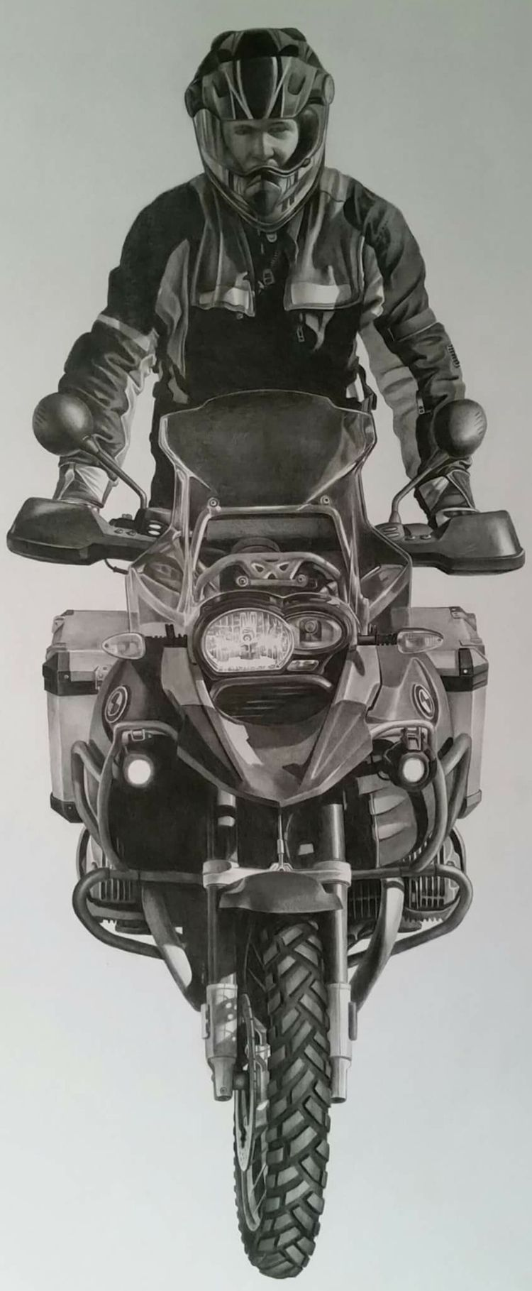 motorcycle selfie graphite - scottieford | ello
