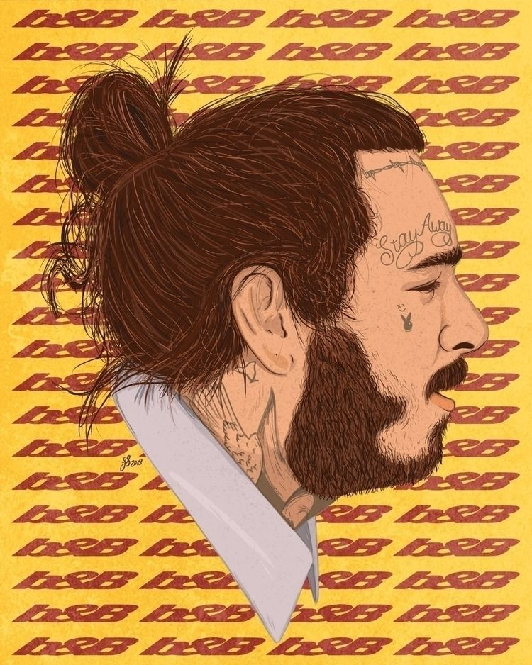 Post Malone illustration mornin - leightonstollard | ello